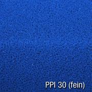 Filtermatte 50x50x3 cm PPI 30 fein blau