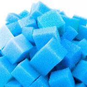 Filterschaum Würfel 30x30 mm PPI 20 blau