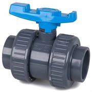 AquaForte PVC Kugelhahn 50 mm blau
