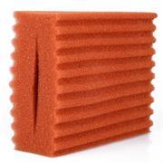 Filterschwamm rot(fein), gewellt 5.1 und 10.1