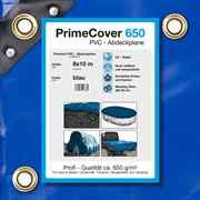PVC Plane blau 650 g/m² 8 x 10 m (80m²)