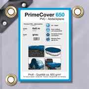 PVC Plane grau 650 g/m² 6 x 8 m (48m²)