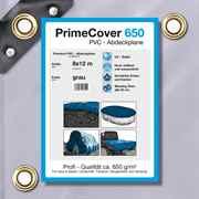 PVC Plane grau 650 g/m² 8 x 12 m (96m²)