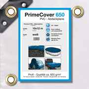 PVC Plane weiss 650 g/m² 10 x 12 m (120m²)