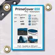PVC Plane weiss 650 g/m² 3 x 4 m (12m²)