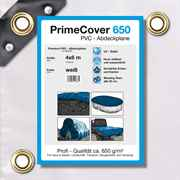 PVC Plane weiss 650 g/m² 4 x 6 m (24m²)