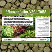 VEGI-TABS Hafttabletten - Pflanzenfutter für Zierfische 1000 ml