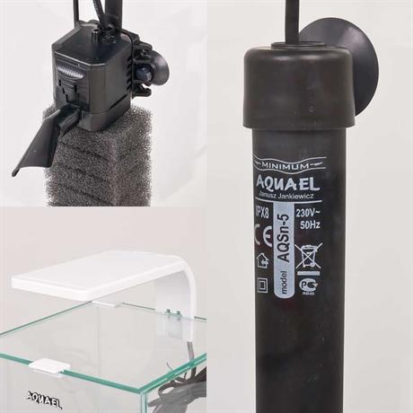 filter, heizer und Led Leuchtmittel für Shrimp-Set Smart weiss