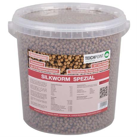 seidenraupen zu 7mm pellets gepresst als koi futter