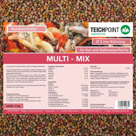 teichpoint koifutter multi-mix 3mm