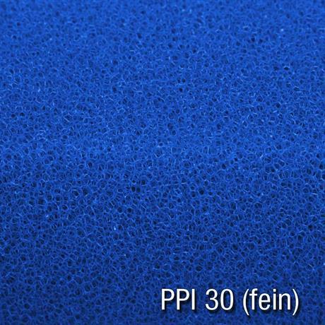 Filterschaum fein ppi10 blau