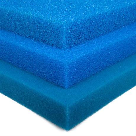 blaue Schaumstoff Teichfiltermatte 100/100/5 cm