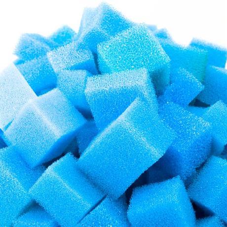 120 Liter Filterschaumwürfel blau