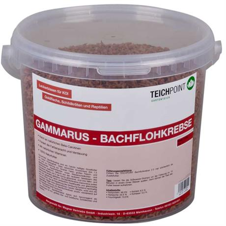 Teichpoint gammarus bachflohkrebse 5 liter 550g for Gartenteichfische shop