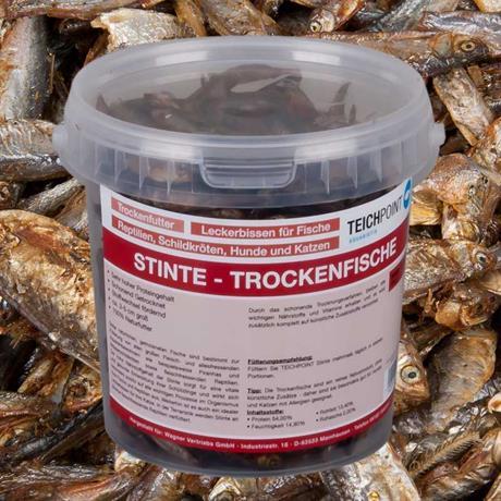 Stinte Trockenfische Futter 1 Liter Teichpoint