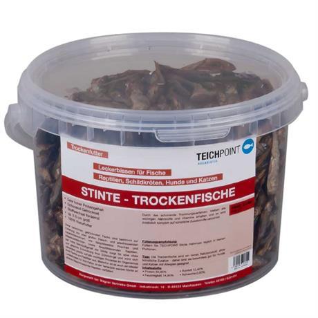 1 Liter Trockenfische Futter Teichpoint
