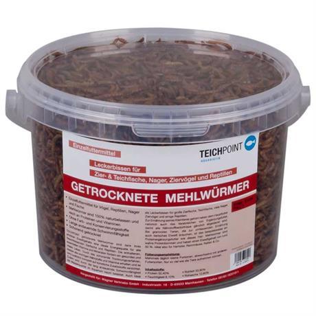 3 Liter Gebinde getrocknete Mehl Würmer