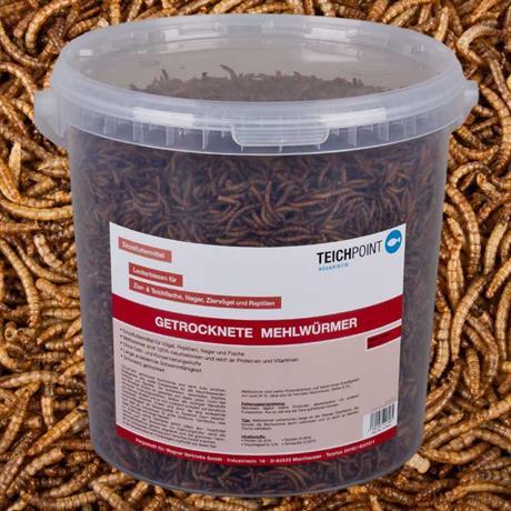 10 Liter getrocknete Mehlwürmer