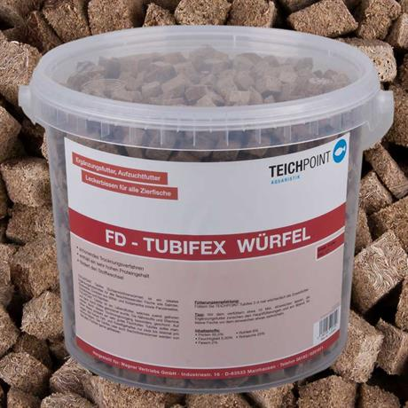 Tubifex FD-Würfel Fischfutter Bachröhrenwürmer