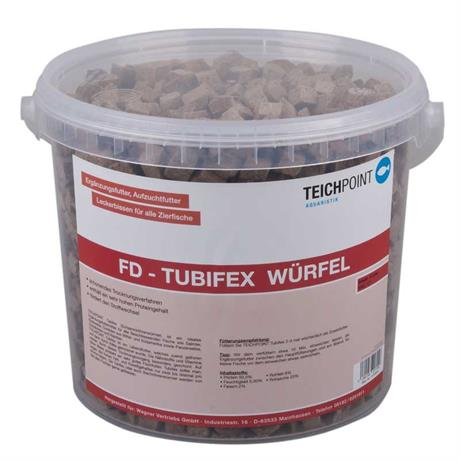 Tubifex Zierfischfutter gefrier getrocknete Würfel