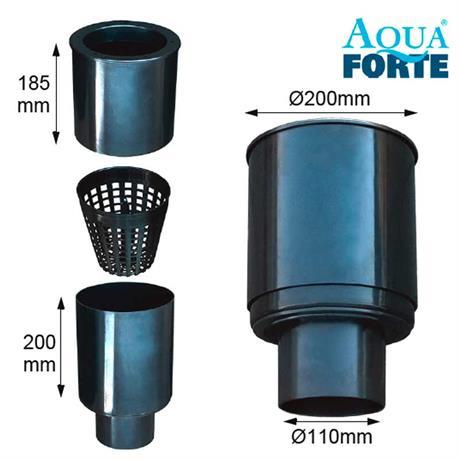 zerlegter Teichskimmer Aquaforte Skimmer 200 mit Korb
