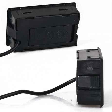 Seiten- und Rückansicht Digital Thermometer TPM schwarz