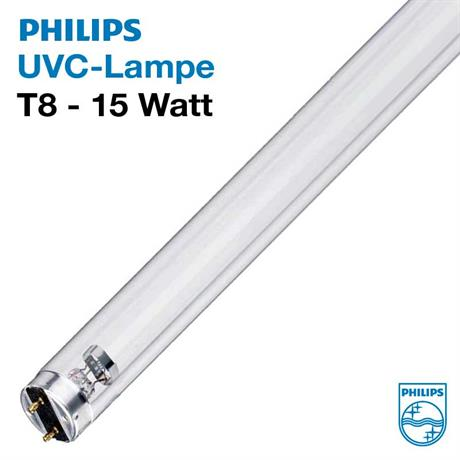 15 Watt UVC Röhre Teichklärer Philips