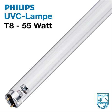 55 Watt TL TUV 55W G55 HO T8 Philips UVC Ersatzröhre