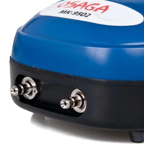 der kompressor für Luft hat zwei 4/6 mm Ausgänge