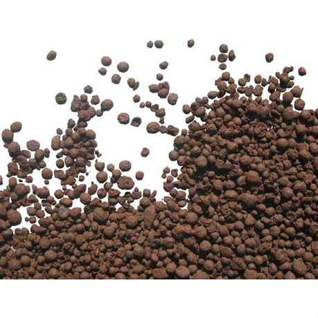 bräunliches Lawagestein granulat