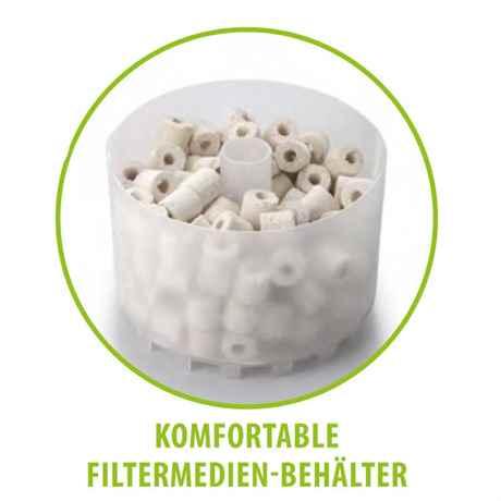komfortabler Filtermedien Behälter am ASAP 750E