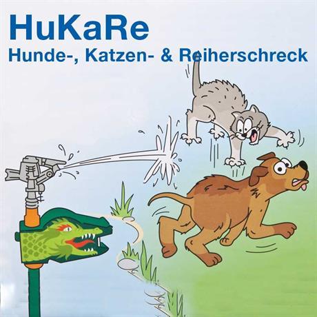 Illustration wie Tiere vom Teich vertrieben werden