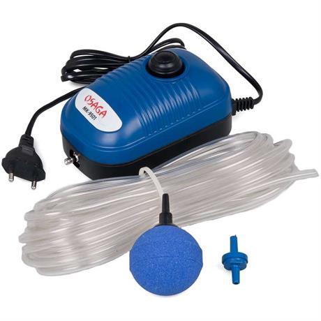 Osaga MK-9501 Belüfterpumpe mit Luftschlauch und Auströmerkugel blau