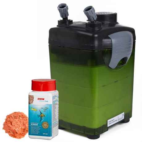 günstiger Aquarium Aussenfilter JEBO 825 mit gratis EHEIM Flockenfutter