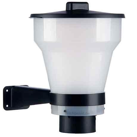 transparenter 7 Liter Behälter für Koi Futter Pellets mit Deckel