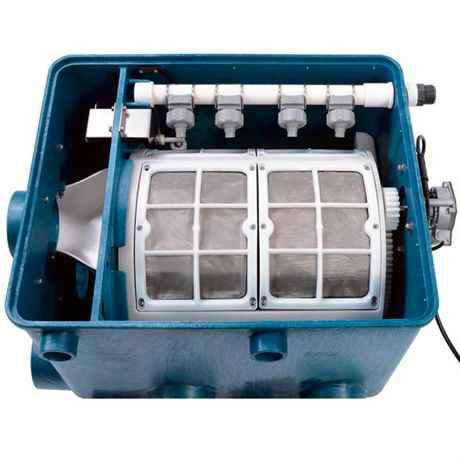 Draufsicht - Blick in den Trommelfilter ATF-1 von Aquaforte