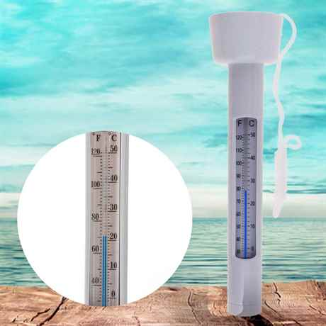 schwimmender Teich Thermometer