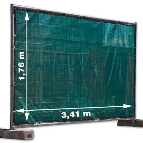 Sichtschutz Bauzaungewebe grün 1,76x3,41 m mit Ösen