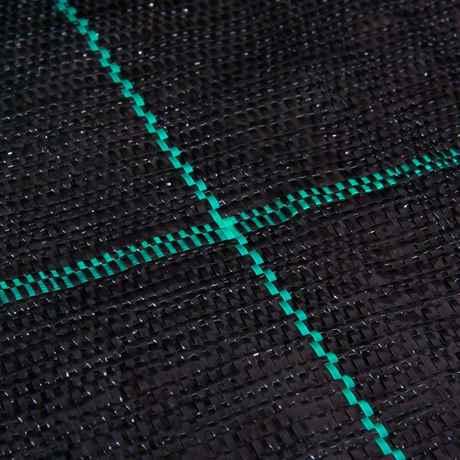 neutrale Farbgebung (schwarz mit grünen Markierungsstreifen 15x15 cm)