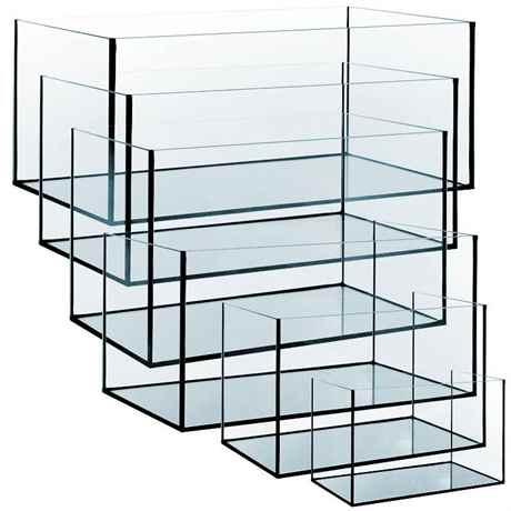 Aquarium Glasbecken aus Floatglas mit polierten Kanten