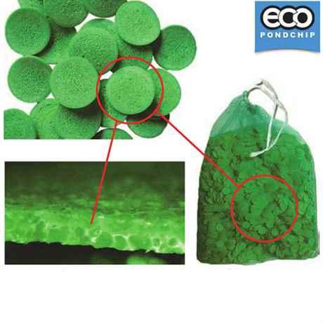 Die grünen Eco-Pondchips Filtermedien