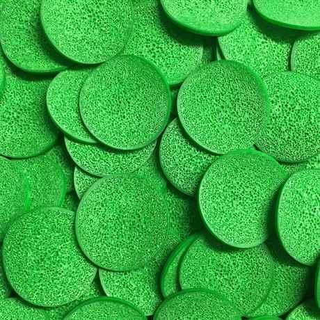 der grüne Eco Pondchip für Moving Bead Filteranlagen