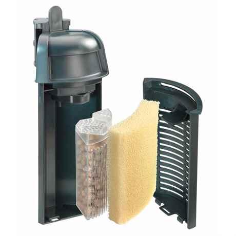 aquaCorner 60 zerlegt mit Schwammfilter und Media-Box