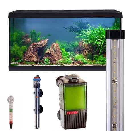 EHEIM aquastar 54 led schwarz mit LED Beleuchtung, Filter, Heizer und Thermometer