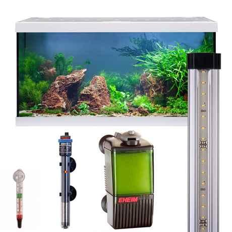 EHEIM aquastar 54 LED weiss mit LED-Beleuchtung, Innenfilter, Regelheizer und Thermometer