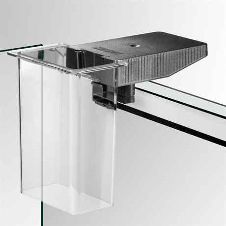 Die feeding Station am Glasbecken montiert