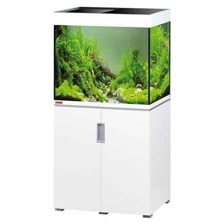 EHEIM incpiria Komplett Aquarium mit weissen hochglanz Unterschrank