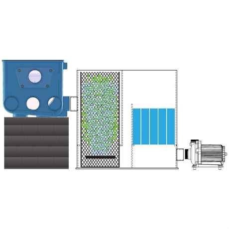 Das Funktionsprinzip der Bio-Kammer mit dem Trommelfilter ATF-1