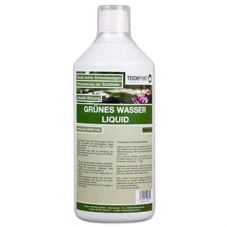 1 Liter Grünes Wasser Liquid von Teichpoint