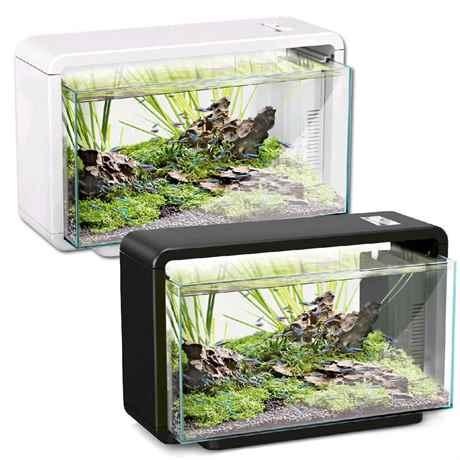 Hailea E25 Natur Biotop - Aquariumset für Aquascaping schwarz und weiss